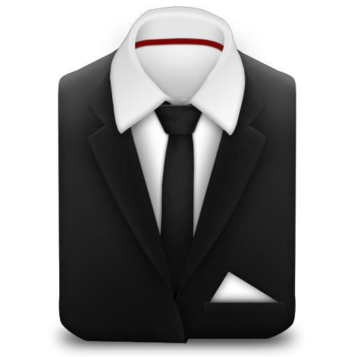 Manager Suit Black Tie Icon Manager Iconset Mihaiciuc Bogdan