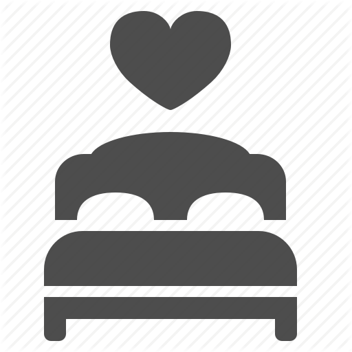 Bed, Bedroom, Double, Heart, Honeymoon, Room, Suite Icon