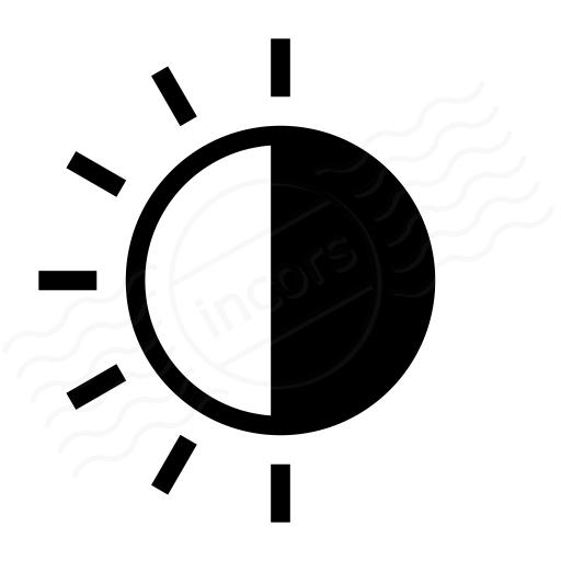 Iconexperience I Collection Sun Half Icon