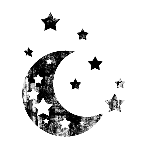 Printables Moon Icon, Star