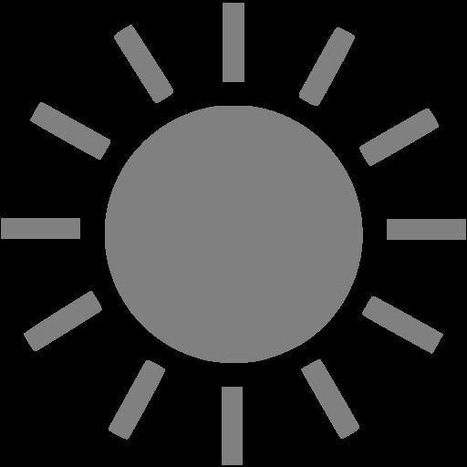 Gray Sun Icon