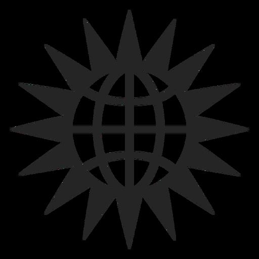 Globe And Sun Icon