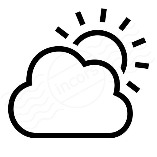 Iconexperience I Collection Cloud Sun Icon