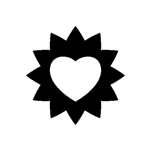 Heart Icons Sun