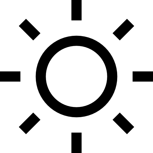 Sun Shape Of A Circle With Straight Rays Icons Free Download