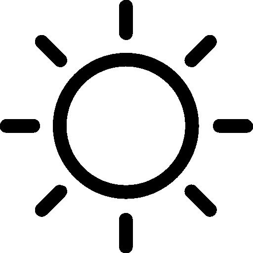 Sunny Day Weather Stroke Symbol