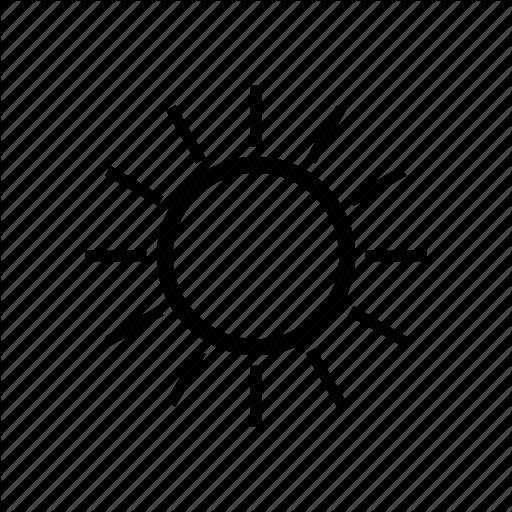 Clear, Fine, Hot, Summer, Sun, Sunny, Weather Icon