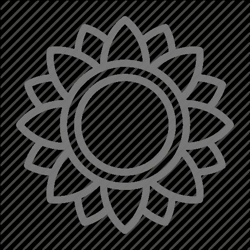 Bloom, Flower, Sunflower Icon