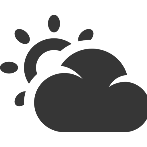 Grey, Partly Cloud, Sunny Icon
