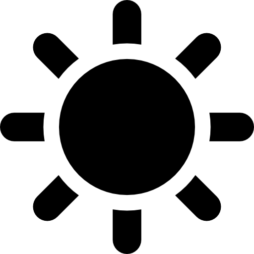 Sunny Day Or Sun Weather Icons Free Download