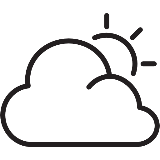 Weather, Nine, Sun, Cloudy Icon Free Of Weather Icons Light
