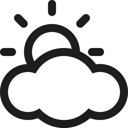 Sun And Cloud Weather Icon Images