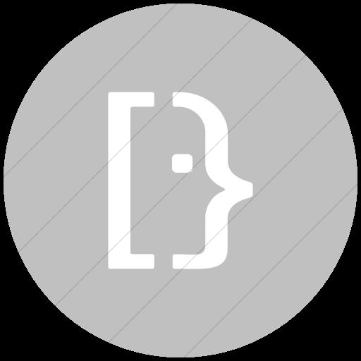 Flat Circle White On Silver Social Media Super User Icon