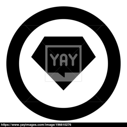 Superhero Template Icon Black Color In Circle Vector