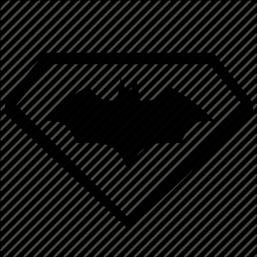 Bat, Batman, Comix, Logotype, Sign, Superman Icon