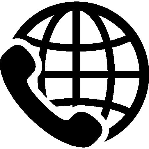 International Calling Service Symbol Icons Free Download