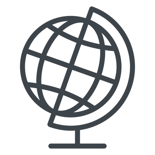 Geography Globe Flat School Icon