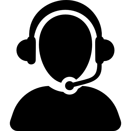 Tech Support Black Icon