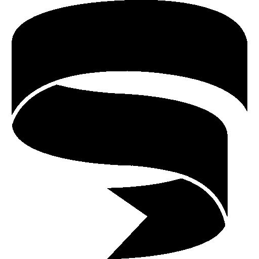 Ribbon Swirl Silhouette