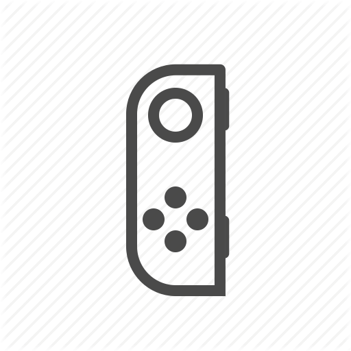 Console, Game, Joycon, Left, Nintendo, Switch Icon