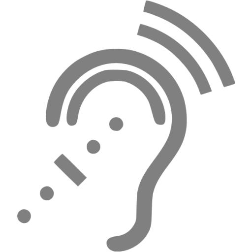 Gray Assistive Listening System Icon