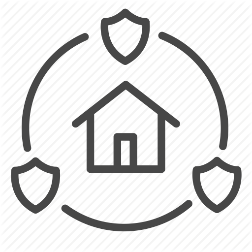 Home, Protection, Secure, Security, System Icon
