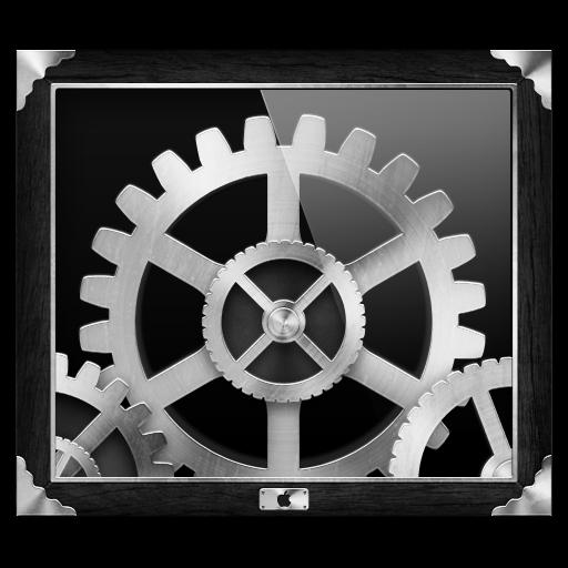 Grey Steampunk System Preferences Icon