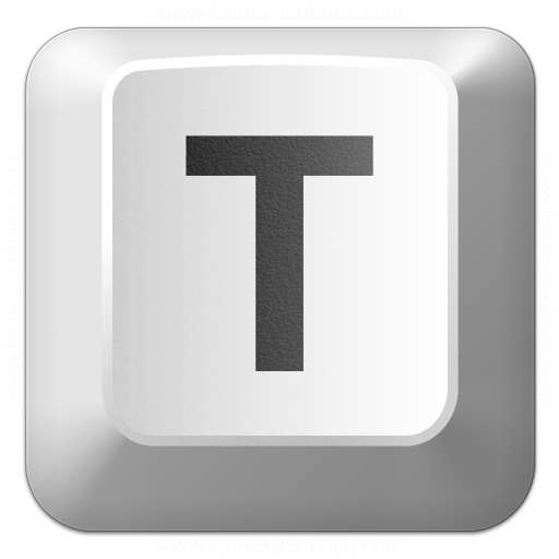 Iconexperience V Collection Keyboard Key T Icon