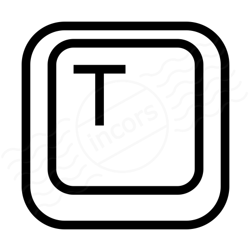 Iconexperience I Collection Keyboard Key T Icon