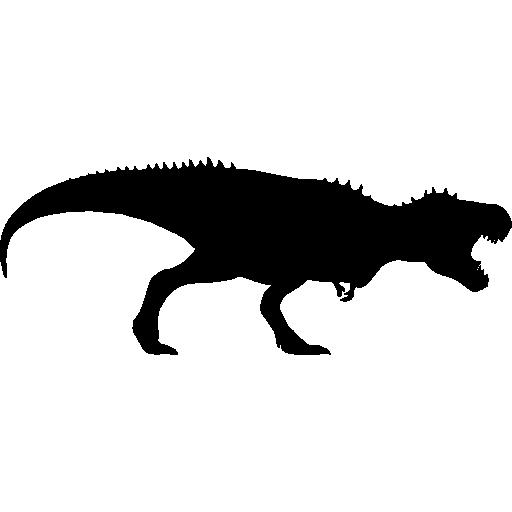 Tyrannosaurus Rex Dinosaur Silhouette Icons Free Download