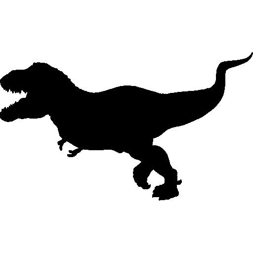 Tyrannosaurus Rex Silhouette Icons Free Download