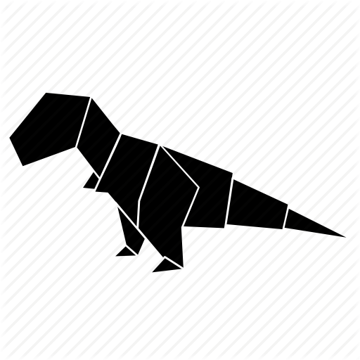 Animals, Dino, Dinosaur, Origami, T Rex Icon
