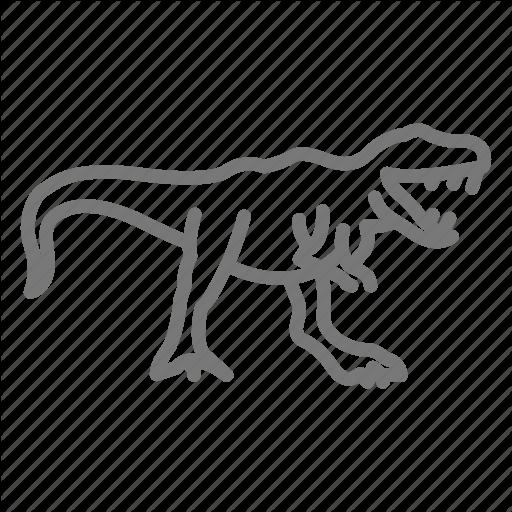 Dinosaur, Jurassic, Reptile, T Rex, Trex, Tyrannosaurus Icon