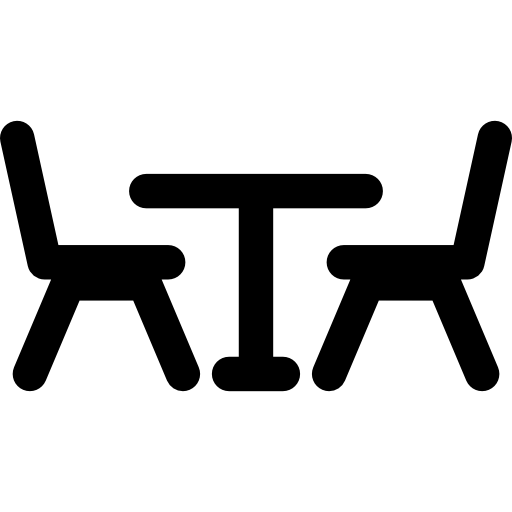 Restaurant Table And Chairs Icons Free Download