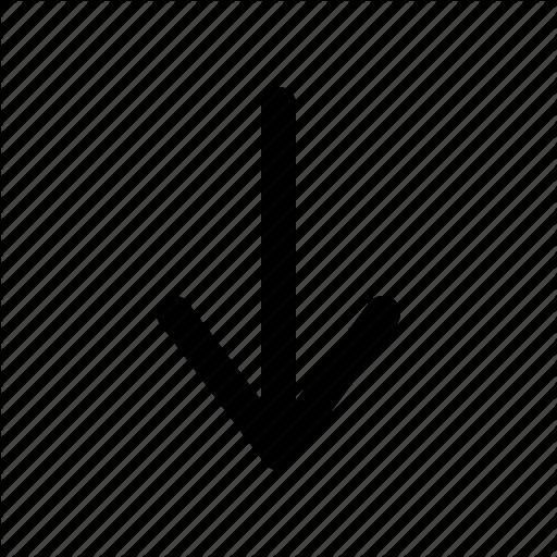 Arrow, Down, Down Arrow, Line Down Icon