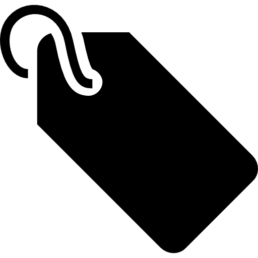Tag With Cord Black Marketing Tool Symbol For Commerce Icons