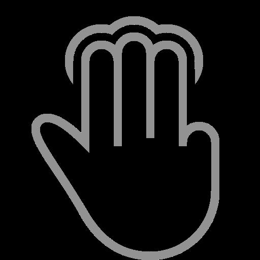 Three, Fingers, Tap Icon