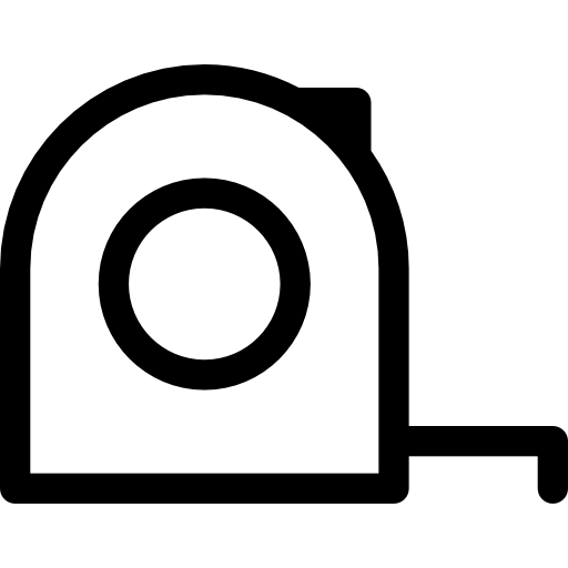 Measuring Tape Outline Icons Free Download