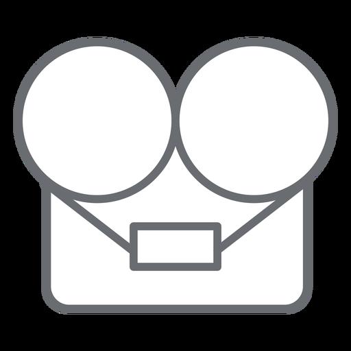 Reel Tape Recorder Stroke Icon