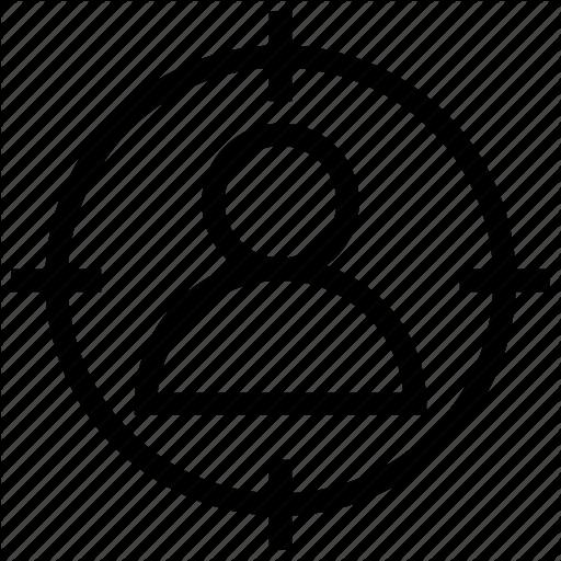 Aim, Customer, Focus, Person, Target Icon