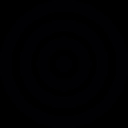 Circular Target, Shooting Target, Dart Board Icon
