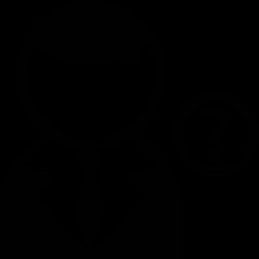 User, Mit, Anzug, Und, Frage, Zeichen, Taste Symbol