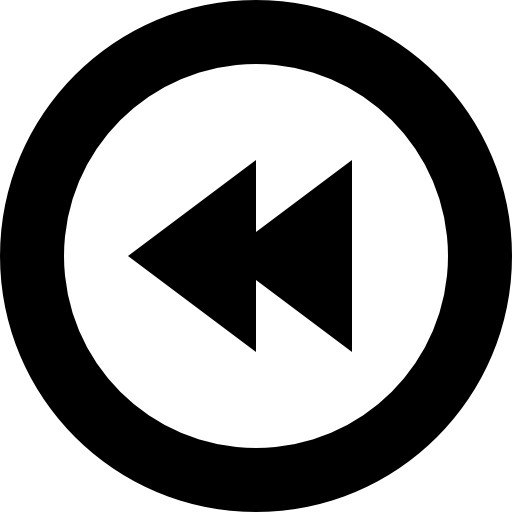 Rewind Circle Of Button