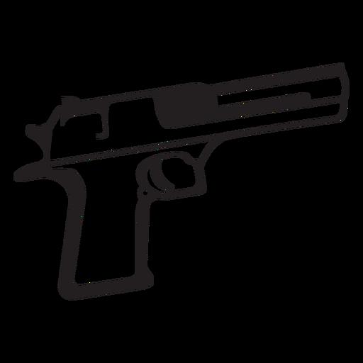 Pistol Black And White Icon