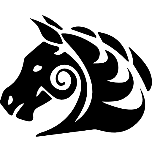 Horse Tattoo Variant Facing The Left Icons Free Download