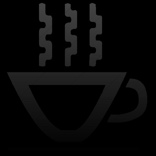Simple Black Gradient Classica Hot Tea Cup Icon