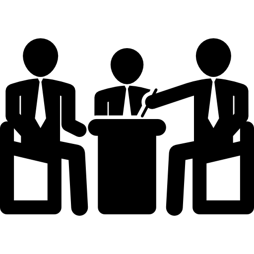 Businessmen Having A Group Conference Icons Free Download