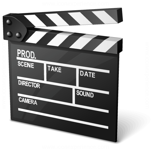 Iconexperience V Collection Clapperboard Icon