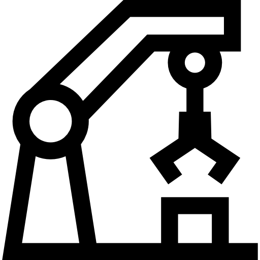 Mechanical Arm, Machine, Factory, Technology Icon