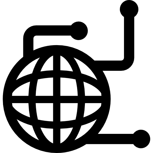 Streaming, Stream, Flow, World Wide, Information, Technology Icon